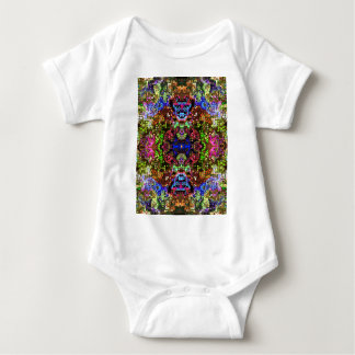 Colorful Abstract Circles Collage Baby Bodysuit