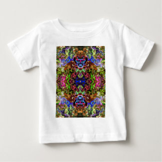 Colorful Abstract Circles Collage Baby T-Shirt