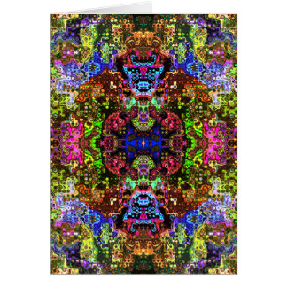 Colorful Abstract Circles Collage Card
