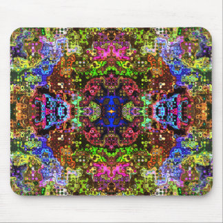 Colorful Abstract Circles Collage Mouse Pad