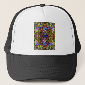 Colorful Abstract Circles Collage Trucker Hat