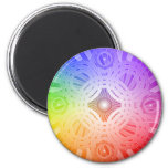 Colorful Abstract Circles: Refrigerator Magnet