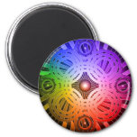 Colorful Abstract Circles: Refrigerator Magnets