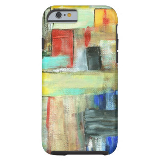 Colorful Abstract Cityscape Original Art Painting Tough iPhone 6 Case