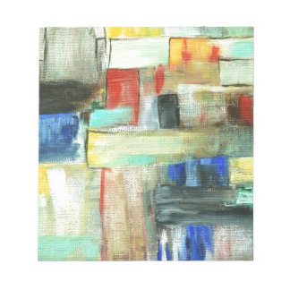 Colorful Abstract Cityscape Original Art Painting Notepad