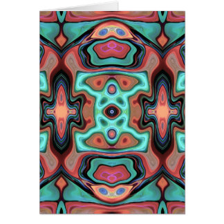 Colorful Abstract Clusters 1 Card