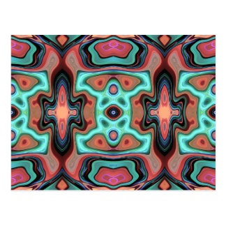 Colorful Abstract Clusters 1 Postcard