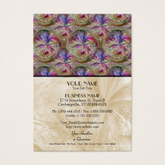 Colorful Abstract Collage Bubble Pattern Business Card