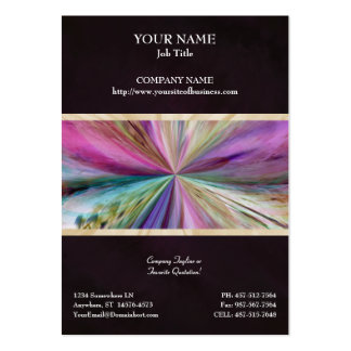 Colorful Abstract Collage Ribbon Business Cards