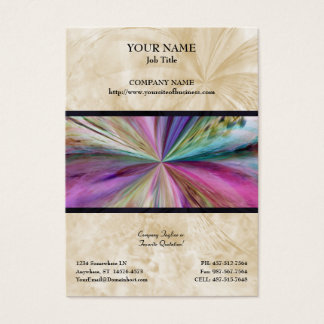 Colorful Abstract Collage Ribbon Business Card