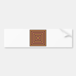 Colorful Abstract Concentric Square  Pattern Bumper Sticker