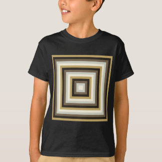 Colorful Abstract Concentric Square  Pattern T-Shirt