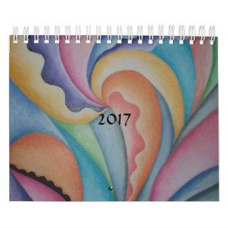 COLORFUL ABSTRACT CONTEMPORARY ART 2017 CALENDAR