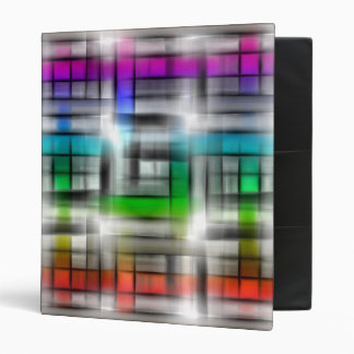 Colorful abstract design 3 ring binder