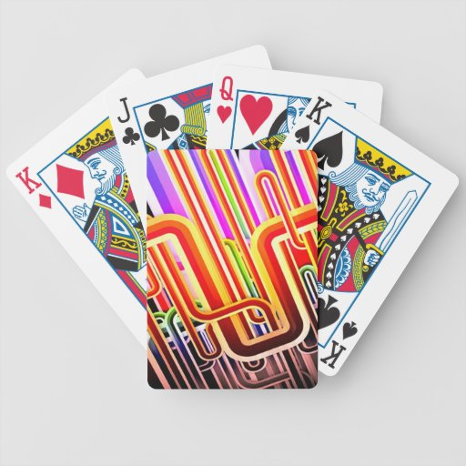 Colorful Abstract Design Bicycle Playing Cards