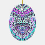 Colorful Abstract Design Christmas Ornaments