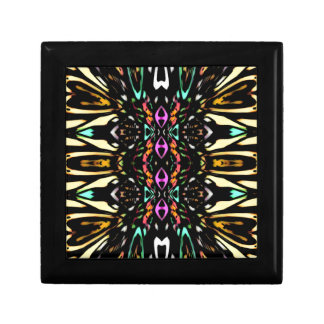 Colorful Abstract Design. Digital Pattern Art Jewelry Box