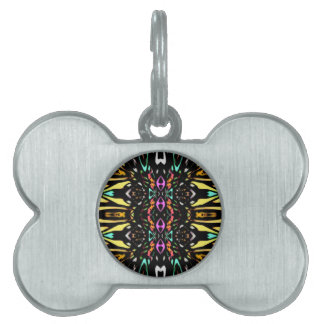 Colorful Abstract Design. Digital Pattern Art Pet Tag