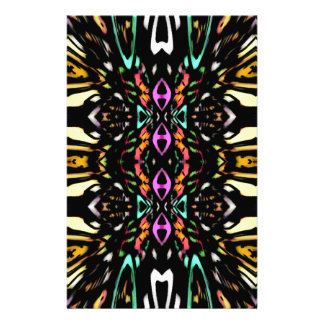 Colorful Abstract Design. Digital Pattern Art Stationery Paper