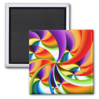 Colorful Abstract Design Magnet