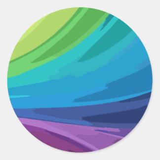 Colorful Abstract Design Rainbow Splash Sticker