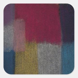 Colorful Abstract Design Square Sticker