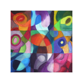 Colorful Abstract Design Wrapped Canvas