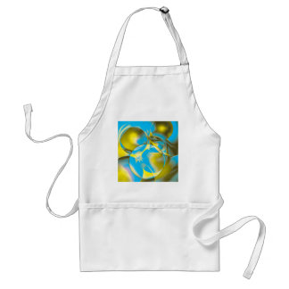 Colorful abstract  designs adult apron