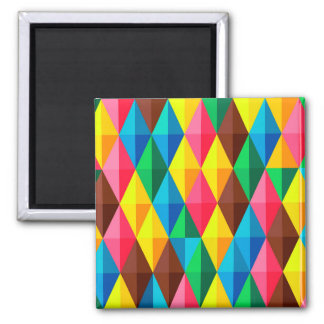 Colorful Abstract Diamond Shape Background Magnet