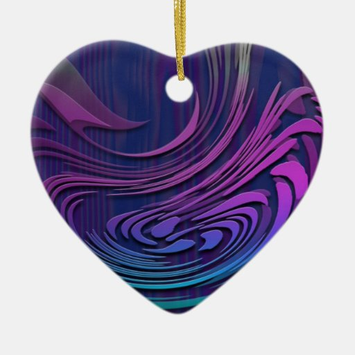 Colorful Abstract Digital Art Ornament