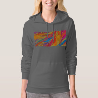 Colorful Abstract Digital Fractal Flame Hoodie