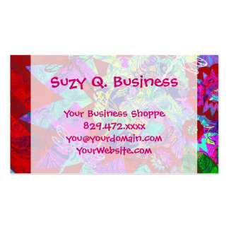 Colorful Abstract Dragonflies Business Cards