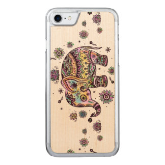 Colorful Abstract Elephant Illustration Carved iPhone 7 Case