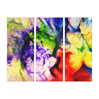 Colorful, Abstract, Encaustic, Canvas Canvas Print