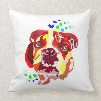 Colorful Abstract English Bulldog Pillows