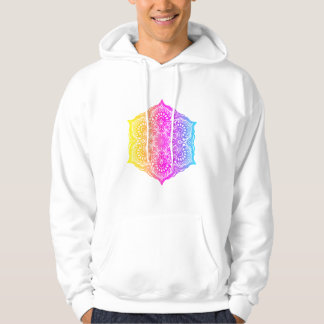 Colorful abstract ethnic floral mandala design hoodie
