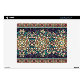 "Colorful abstract ethnic floral mandala pattern 12"" laptop skins"