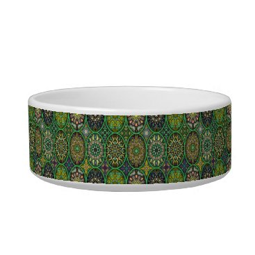 Aztec Themed Colorful abstract ethnic floral mandala pattern bowl