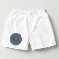 Colorful abstract ethnic floral mandala pattern boxers