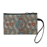 Colorful abstract ethnic floral mandala pattern coin wallet