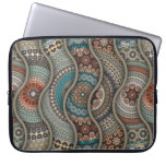 Colorful abstract ethnic floral mandala pattern computer sleeve