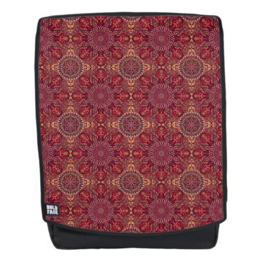 Aztec Themed Colorful abstract ethnic floral mandala pattern de backpack