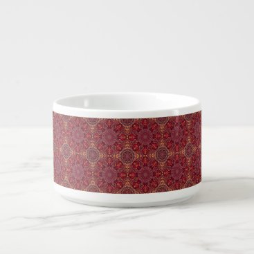 Aztec Themed Colorful abstract ethnic floral mandala pattern de bowl