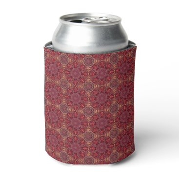 Aztec Themed Colorful abstract ethnic floral mandala pattern de can cooler