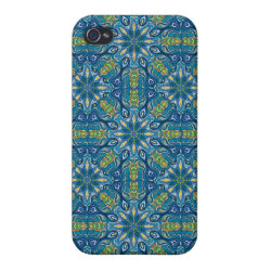 Colorful abstract ethnic floral mandala pattern de case for iPhone 4