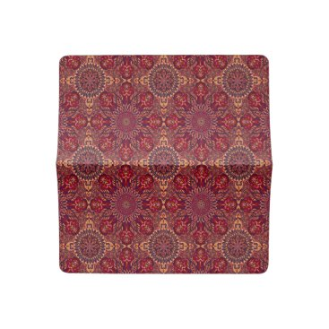 Aztec Themed Colorful abstract ethnic floral mandala pattern de checkbook cover