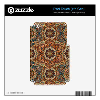 Colorful abstract ethnic floral mandala pattern de decal for iPod touch 4G