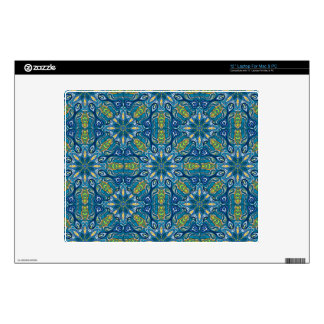 Colorful abstract ethnic floral mandala pattern de decal for laptop