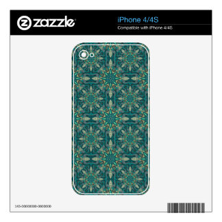 Colorful abstract ethnic floral mandala pattern de decal for the iPhone 4S