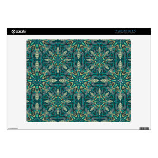 Colorful abstract ethnic floral mandala pattern de decals for laptops